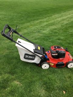 Toro personal pace mower with bag 7.25 motor