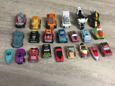 Vintage Galoob Mini Micro Machines, Road Champs & Other Mini Toy Cars & Trucks. CP.