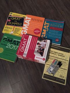 Assorted GMAT Prep Books and Materials