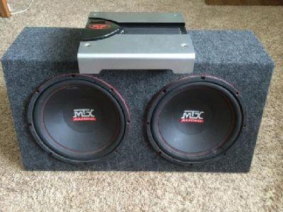 "$175 MTX Dual 12"" Subwoofer and Rockford 400 Watt Amp"
