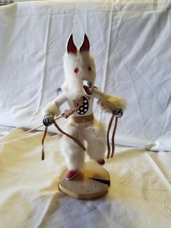 Kachina 13 in White Wolf Dancer Signed