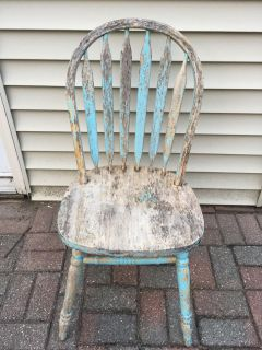Old wood chair