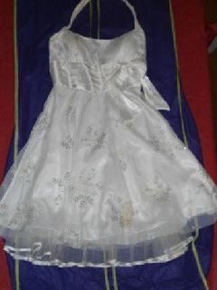 $40 White Halter Dress