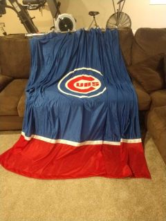 Cubs shower curtain and rod