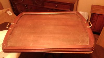 Butler/Coffee Table with Removable Glass Serving Tray