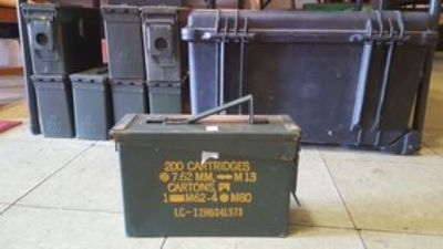 small, medium, and large ammo/tool boxes