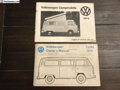 1976 Bus Manuals, Owners And Campmobile