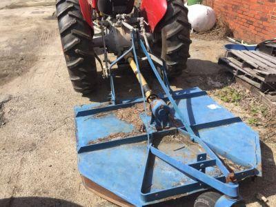 Massey Ferguson 135 tractor and bush hog