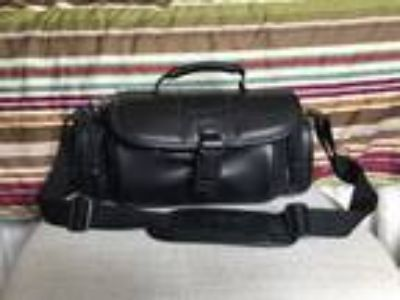 Sony Soft Camera Carrying Case Bag Black Leather Cyber Shot