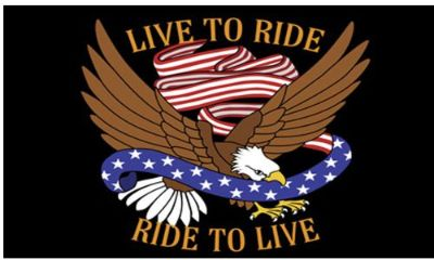 "Purchase SMALL BIKER FLAG LIVE TO RIDE, RIDE TO LIVE MOTORCYCLE FLAG BIKER 6"" X 9"" motorcycle in Hudson, Florida, United States, for US $10.95"