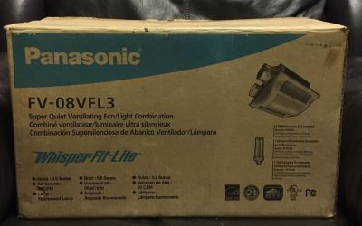 Panasonic FV-08VFL3 Exaust Fan,80CFM WhisperFit-Lite Low Profile Ventilation New in the box