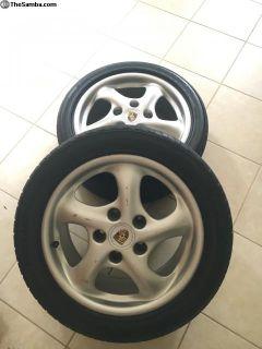 Porsche Boxster twist wheels. Staggered set OEM