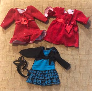Multiple American Girl Doll Outfits