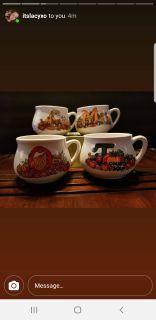 Vintage soup mugs