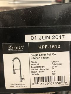Kraus Faucet (brand new, in-box)