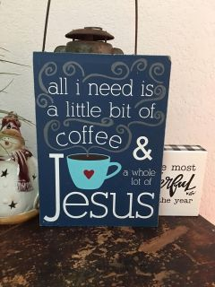 Local Hand painted wooden sign, guc $15 oak grove estates