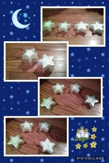 4 PC Star-shaped Floating Candles