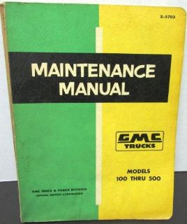 Sell Original 1957 GMC Truck Dealer Service Shop Manual Repair 100 - 500 Models motorcycle in Holts Summit, Missouri, United States, for US $49.57