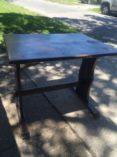 Small solid wood kitchen table , flash
