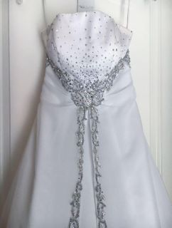 Pageant/wedding dress with lace up back. Size 0.