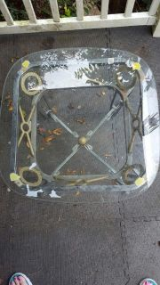 Small, Glass Topped End Table. Available 12/8