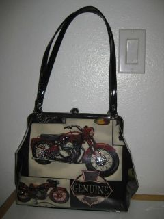 Sell HARLEY DAVIDSON,TRIUMPH, BMW, MOTORCYCLE THEMED DESIGNER WOMENS HANDBAG-LIKE NEW motorcycle in Porter Ranch, California, United States, for US $100.00