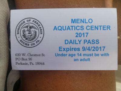 Menlo aquatic Pool passes