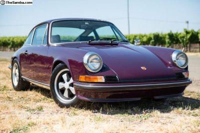 1973 Porsche 911t Mfi Coupe Aubergine/black