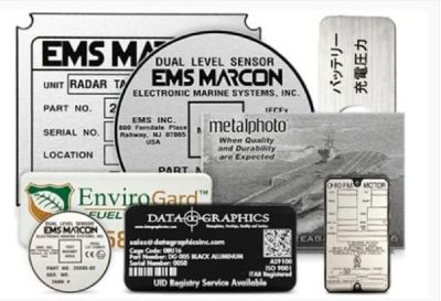 Buy Custom Aluminum Labels Printer from Data Graphics, Inc.