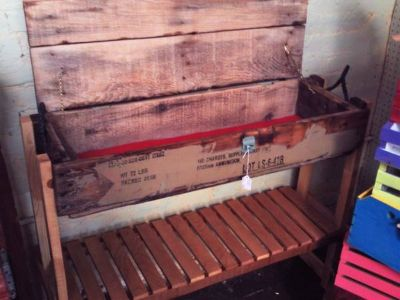 Ammo Crate Vintage Look Table (Eatonton)