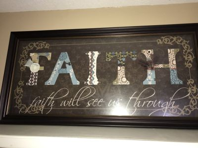 Faith picture in frame