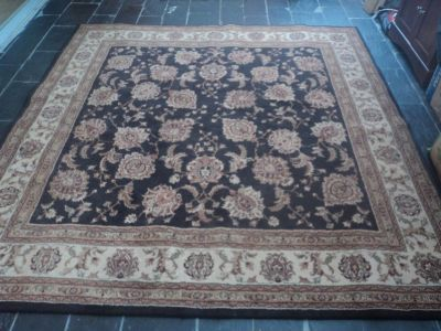 Designer Area Rug with Earth Tone Colors
