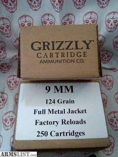 For Sale: 9mm 124gr.
