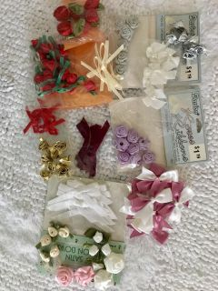 Satin Roses and Bows Collection - 92 Pieces