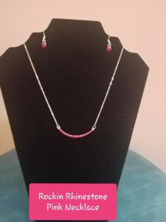 Rockin Rhinestone Pink Necklace