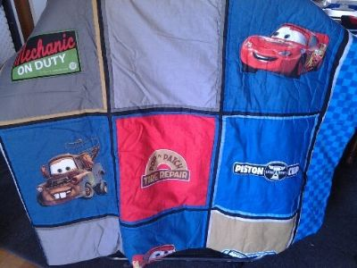 Cars Twin Comforter/Spread and Pillowcase