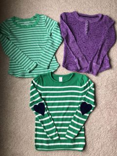 Long sleeve tops - set of 3 (size 6)