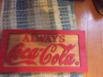 Wooden Coke sign.. great for the collection