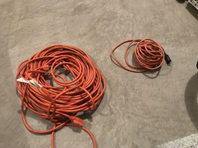 100 ft and 25 ft extension cords