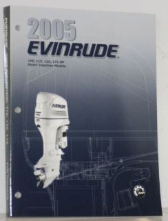 Purchase NEW OEM 2005 Evinrude SO DI 100 - 175 HP Outboard Motor Service Manual 5005976 motorcycle in Daytona Beach, Florida, United States, for US $33.99