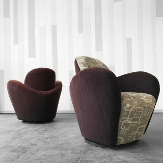 Vladimir Kagan Lounge Chairs for Preview
