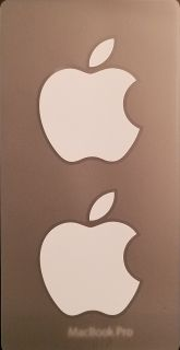 Apple Logo Stickers - New OEM Apple Logo Decal - Never Used