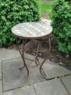 Table - metal with stone top