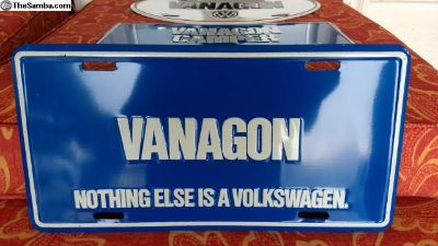 FS: NOS Vanagon dealer promotional plates