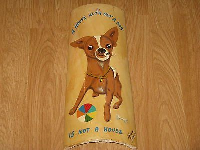 Patio, Porch, Kitchen Wall Art Decor Hand Painted Chihuahua Clay Roof Tile