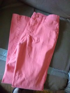 Orange color with sparkles great jeans for girls size 14