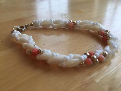 Coral & Pearl Bracelet. From Cleo's