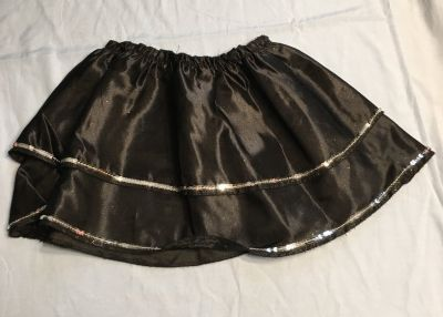 Black silk skirt size 4-6x