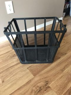 Metal firewood crate . Cross posted