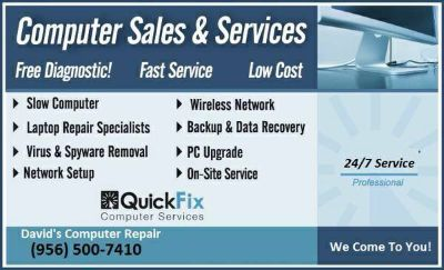 Computer Repair Hardware  Software Desktop PC  Laptop (956)500-7410 We Come To You 247)